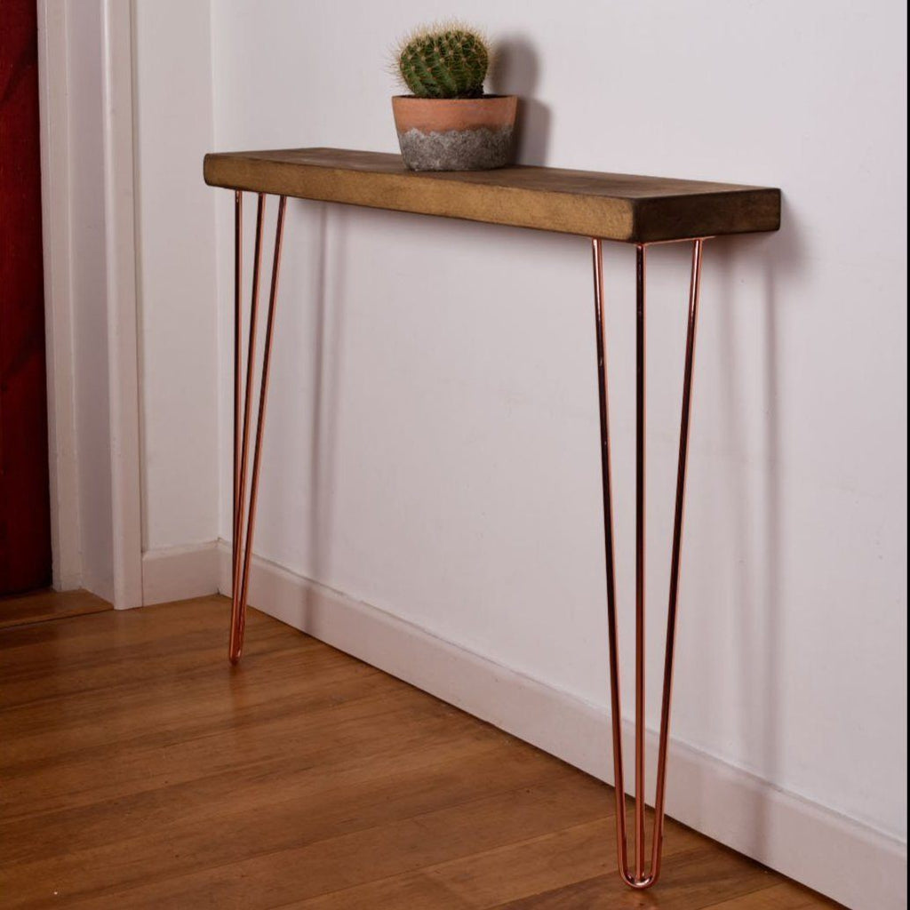 Rustic Oak Hallway Console Table - Kube Designs