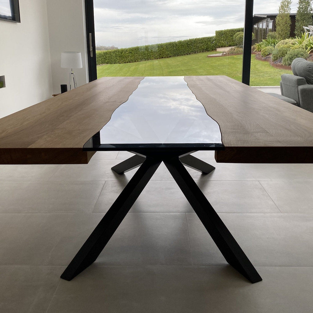 Oak & Glass Dining Table - Kube Designs