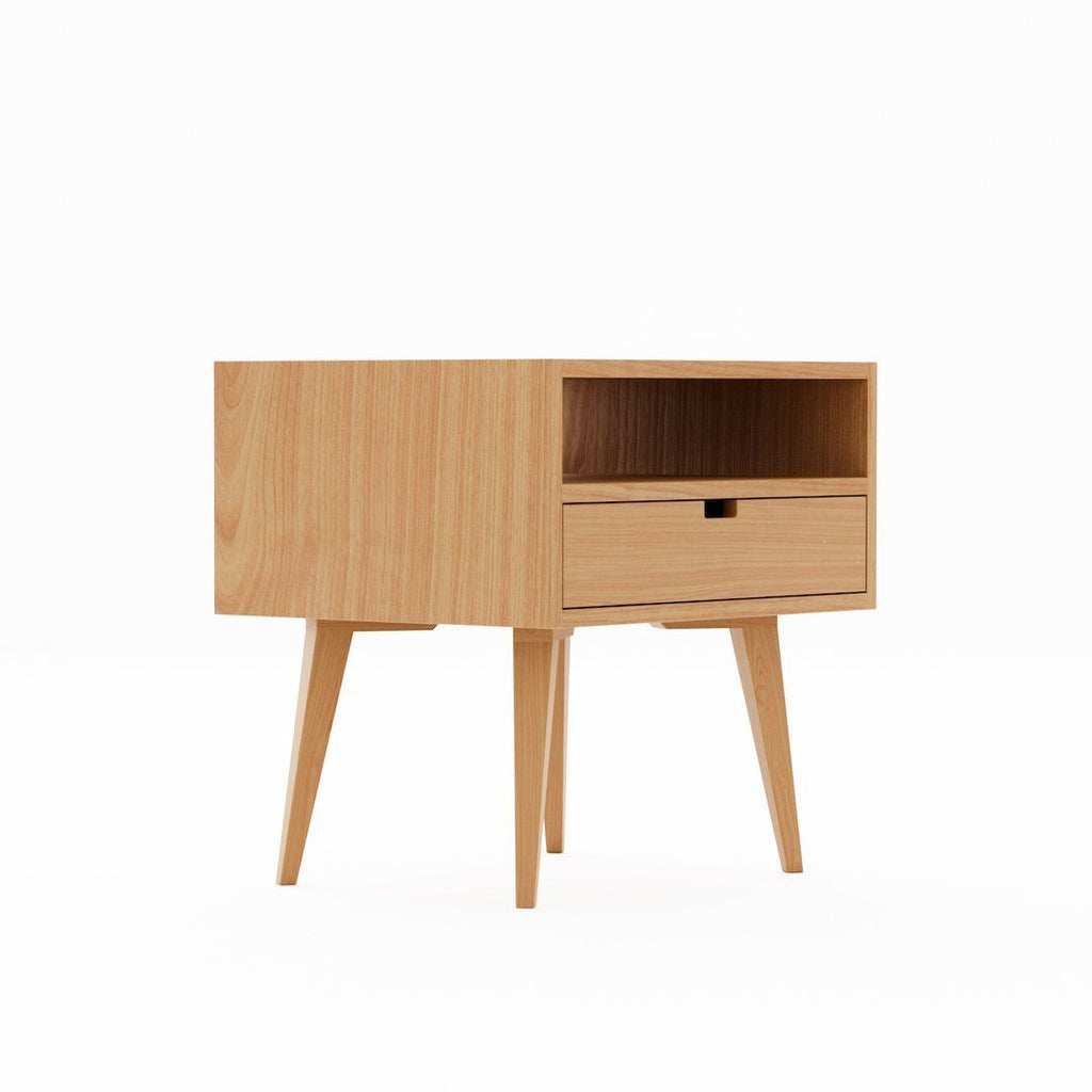 Oak Taper Leg Nightstands - Kube Designs