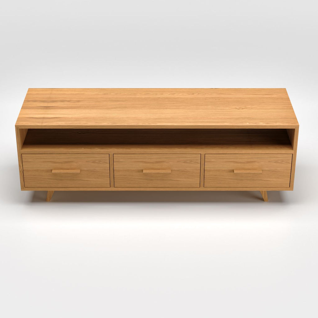Oak TV Stand - Kube Designs