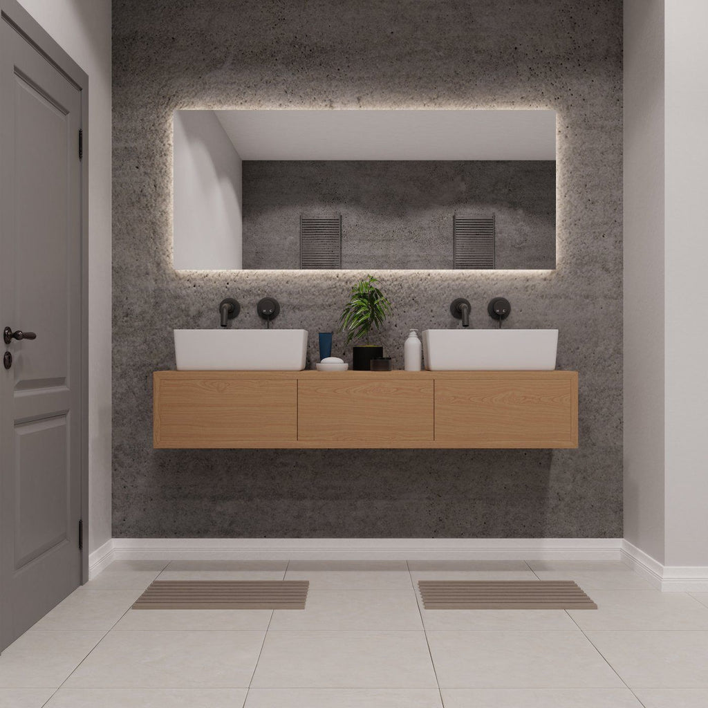 Oak Bathroom Vanity - Kube Designs
