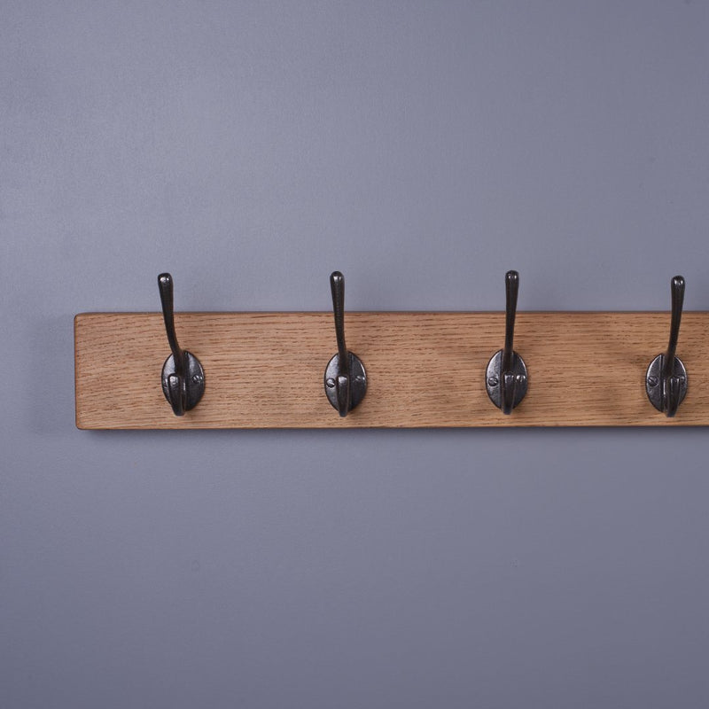 Chunky Oak Coat Rack - Kube Designs