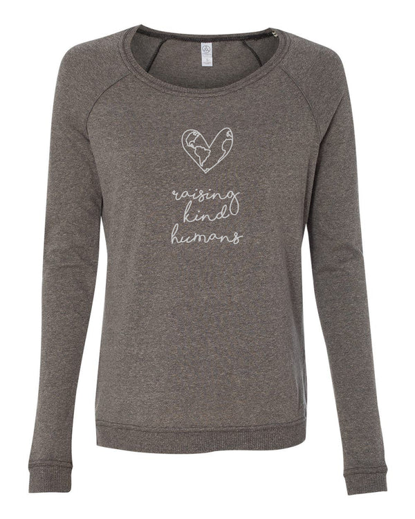 Raising Kind Humans - Womens Long Sleeve Shirt - Gift for Mom, Gift for Teacher