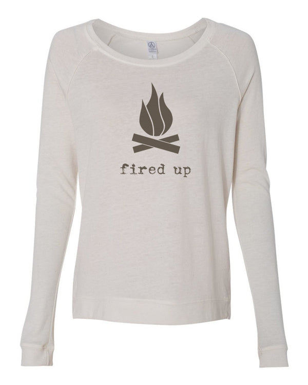 Fired Up - Womens Long Sleeve Shirt
