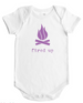 Fired Up - Baby Bodysuit - White w/Storm Grey, Lilac or Rain Imprint