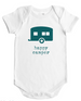 Happy Camper - Baby Bodysuit - White w/Storm Grey, Lilac or Rain Imprint