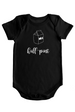 Half-Pint - Baby Bodysuit - Black w/White Imprint