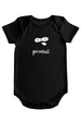 Peanut - Baby Bodysuit - Black w/White Imprint