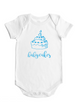 Babycakes - Baby Bodysuit - White w/Pink or Blue Imprint