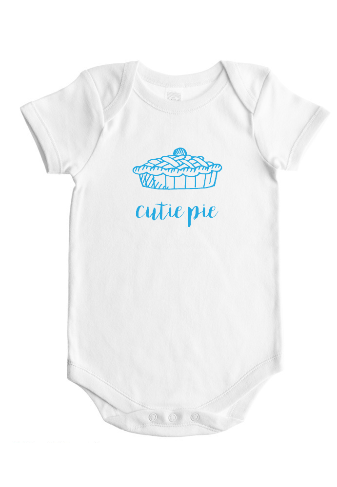 Baby Shower Gift Cutie Pie Baby Bodysuit Baby Nickname Clothes 3 Color Options