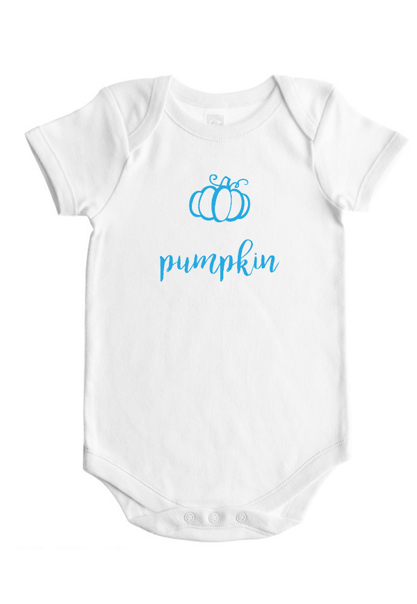 Pumpkin - Baby Bodysuit - White w/Pink or Blue Imprint