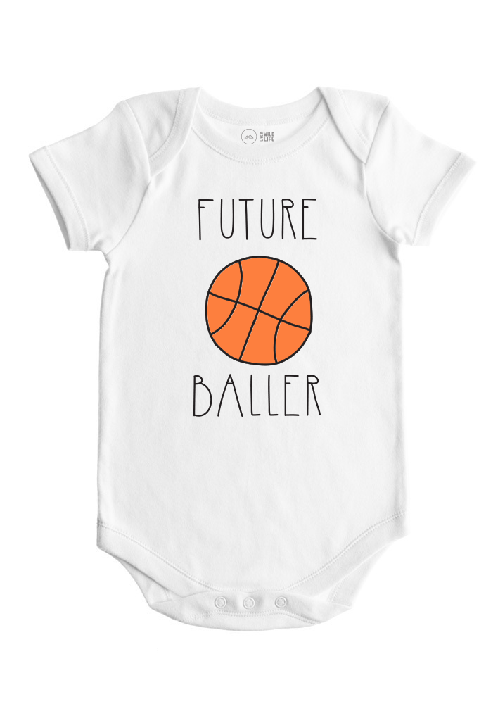 Basketball Baby Bodysuit - Future Ballers Collection