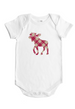 Plaid Moose - Baby Bodysuit - Forest Critters Collection