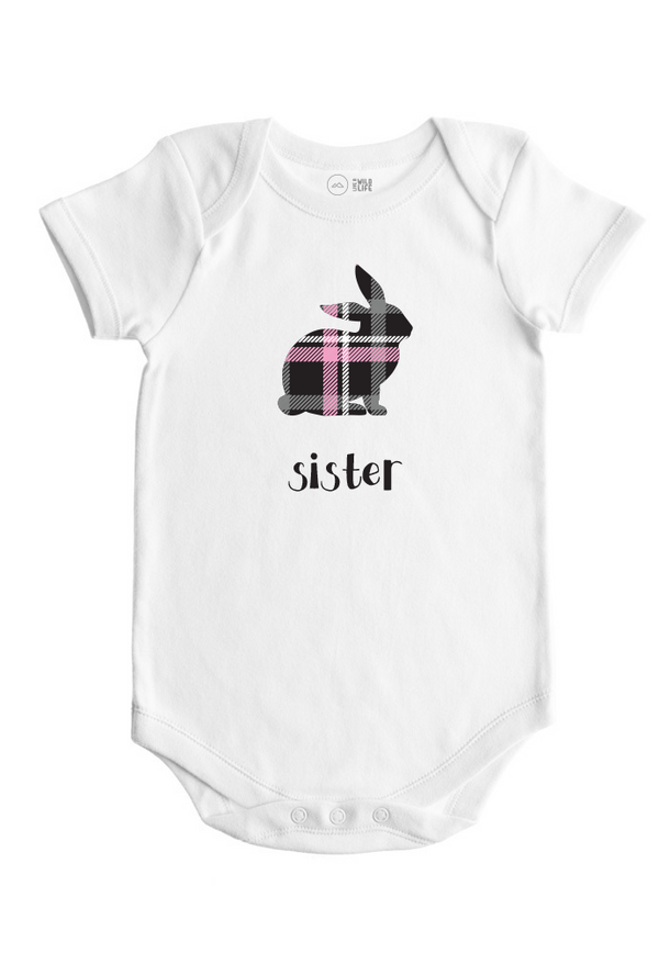 Sister Bunny - Baby Bodysuit - Forest Critters Collection