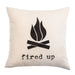 Fired Up - 18x18in Throw Pillow - Cabin/Trailer Accent Pillow