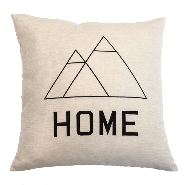 HOME - 18x18in Throw Pillow - Cabin/Trailer Accent Pillow