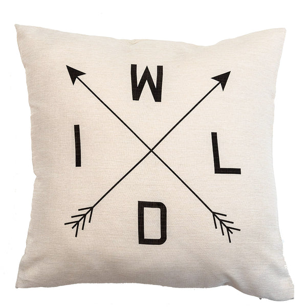 WILD - 18x18in Throw Pillow - Cabin/Trailer Accent Pillow