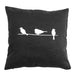 Three Birds (II) - 18x18in Throw Pillow