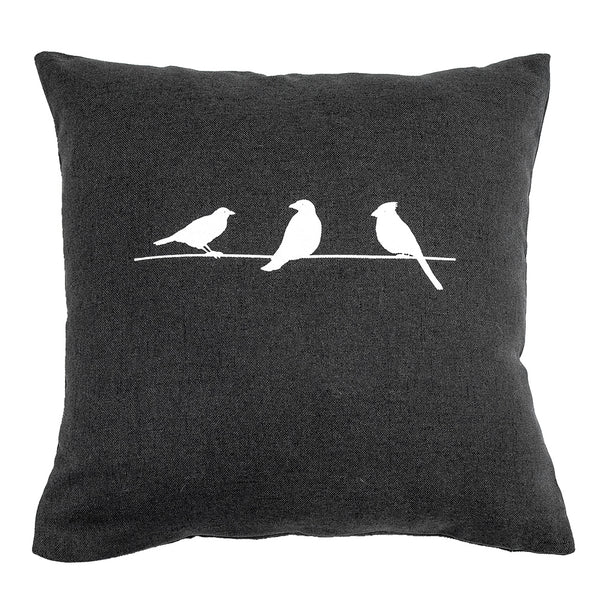 Three Birds (I) - 18x18in Throw Pillow