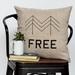 FREE - 18x18in Throw Pillow - Cabin/Trailer Accent Pillow