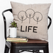 LIFE - 18x18in Throw Pillow - Cabin/Trailer Accent Pillow