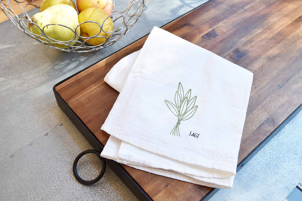 Herbs + Spices Kitchen Towel - 12 Designs - Flour Sack Towels