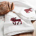 Buffalo Plaid Bear + Moose - Set of 2 Kitchen Towels - Flour Sack Towels