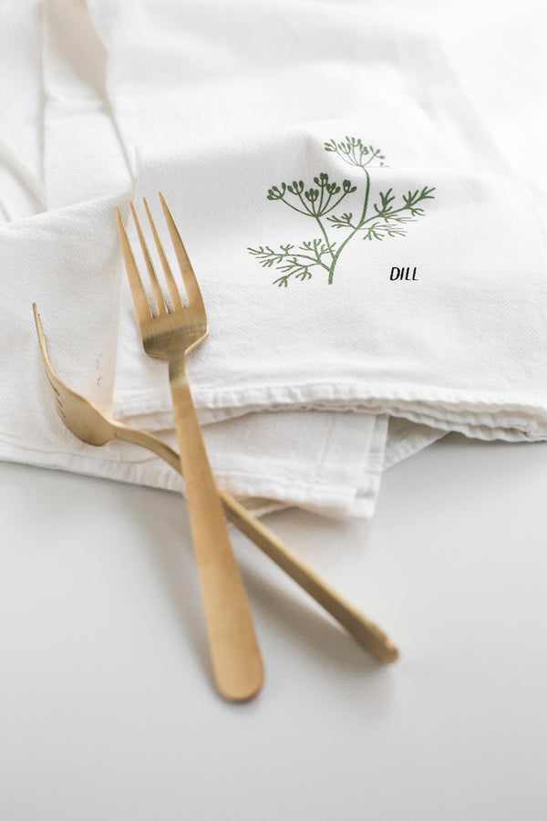 Herbs 2 Kitchen Towel 4-Set (BAS/DIL/ORE/SAG)
