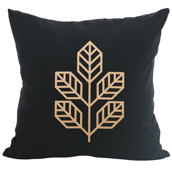 Walnut Leaf - 18x18in Throw Pillow - Copper Imprint
