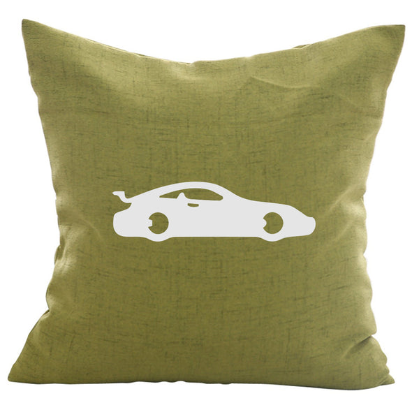 P911 Sportscar - 18x18in Throw Pillow - Classic Silhouettes