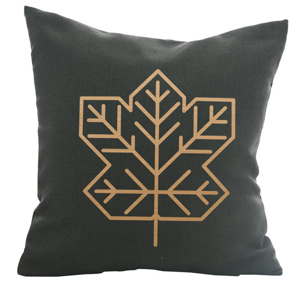 Maple Leaf - 18x18in Throw Pillow - Copper Imprint