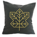 Maple Leaf - 18x18in Throw Pillow - Gold Imprint