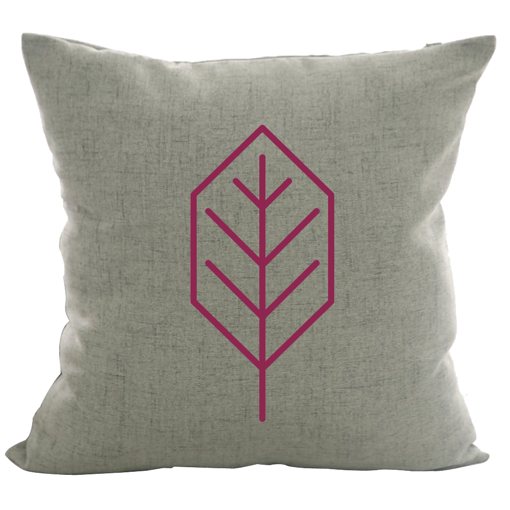Beech Leaf - 18x18in Throw Pillow - Trendy Colors