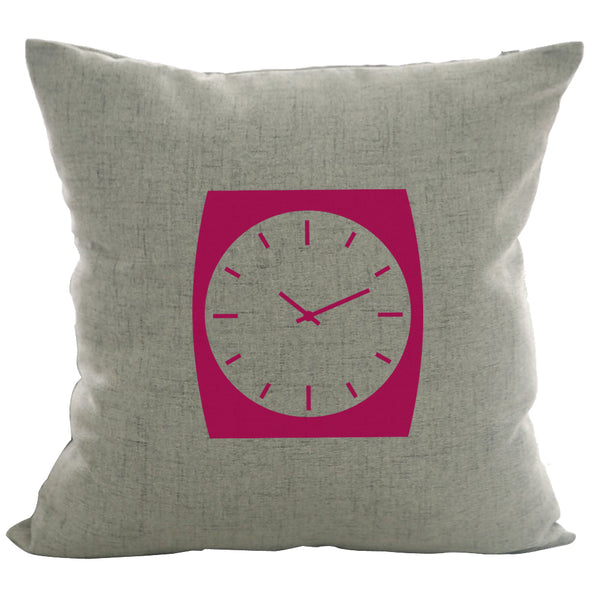 Retro Watch - 18x18in Throw Pillow - Classic Silhouettes