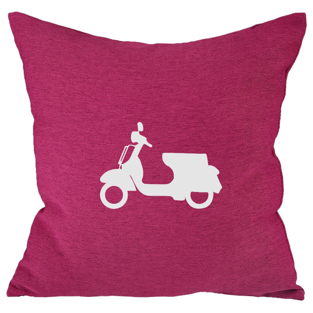 Scooter - 18x18in Throw Pillow - Classic Silhouettes