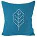 Beech Leaf - 18x18in Throw Pillow - Silver Imprint