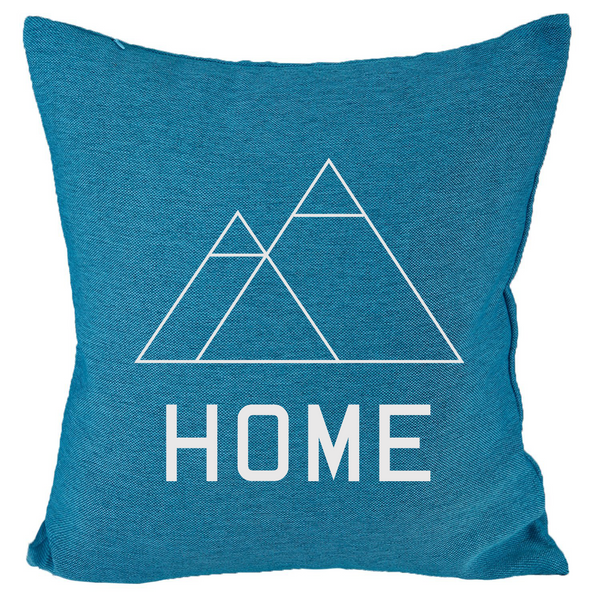 HOME - 18x18in Throw Pillow - Trendy Colors