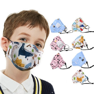 Children Kids Masks Cartoon Face Mask for Girls Boys  Fits 2-10 Years Old Kids