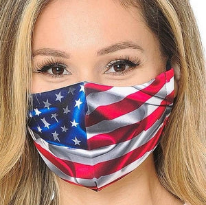 Reusable, Washable, Anti-Dust, Breathable, Protective Face Mask -USA flag Style