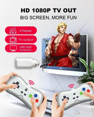 638 Games Built-in Classic 2.4G Wireless Controller HDMI Game Console Dongle -  - Sky & Fly - Sky & Fly