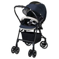 【New】Combi Baby Mechacal Handy 4Cas stroller (Navy)