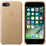 Tan/Gold Leather Case iPhone 7