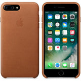 Saddle Brown Leather Case For iPhone 8 Plus