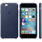 Dark Blue Leather Case iPhone 8