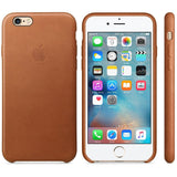 Saddle Brown Leather Case for iPhone 8