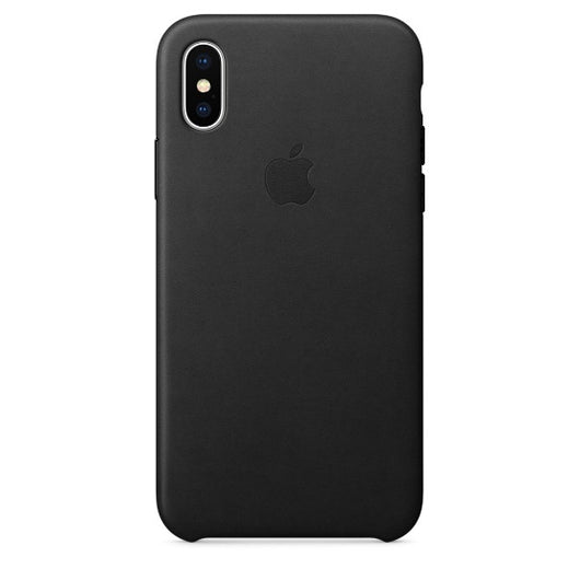 Black Leather Case For iPhone X