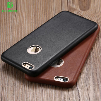 Genuine Leather Case For iPhone 6,6s,6s Plus,7,7 Plus+Metal Logo Hole
