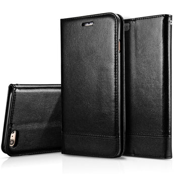 Genuine Real Leather Wallet Phone Case For iPhone 6/6s, 6/6s Plus, 7, 7 Plus