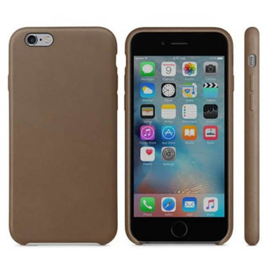 Coffee Brown Leather Case for iPhone 5/5s/SE