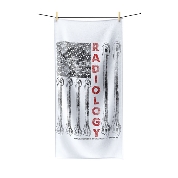 """Radiology American Flag"" Polycotton Towel"